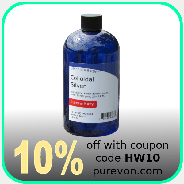 Purevon Silver in a Bottle Colloidal Silver
