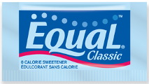 Packet of Equal brand artificial sweetener