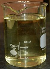 Beaker of vegetable oil