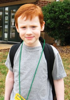 Zach at William R. Davie Elementry School in the Davie County School System before homeschooling